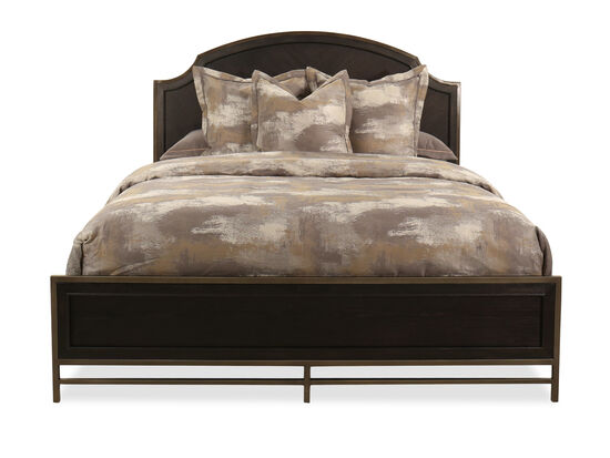 "64"" Contemporary King Panel Bed in Midnight Mink"