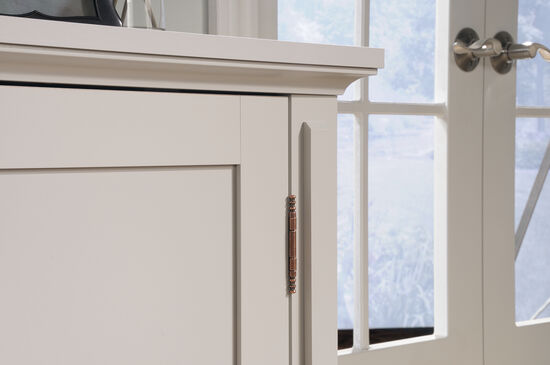 35.5'' Two-Door Contemporary Accent Storage Cabinet in Cobblestone