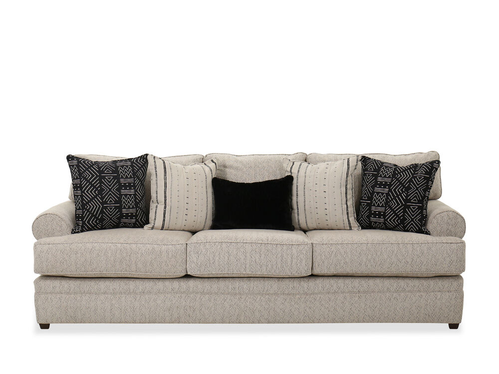103 Traditional Roll Arm Sofa In Beige