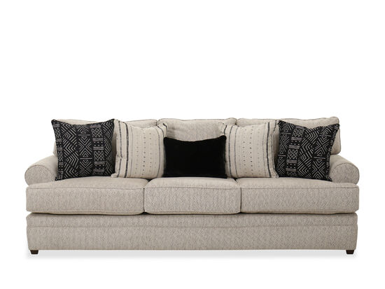 """103"""" Traditional Roll Arm Sofa in Beige"""