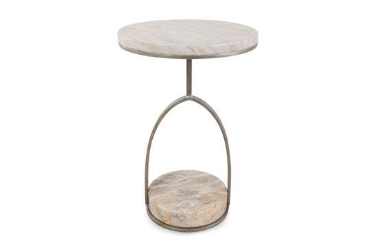 Round Contemporary Chairside Tablein Matte Silver