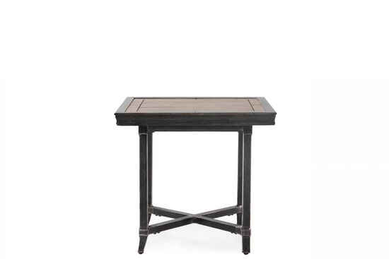 X-Stretcher Aluminum End Table in Light Black
