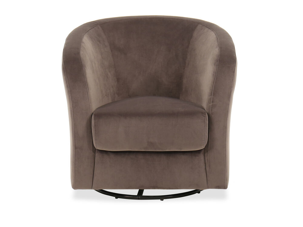 Casual Swivel Accent Chair in Gray
