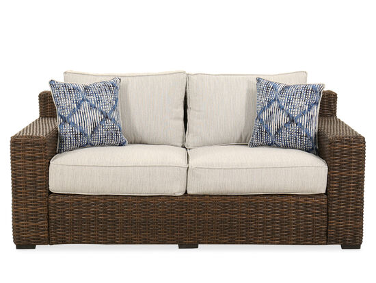 Woven Loveseat in Dark Brown
