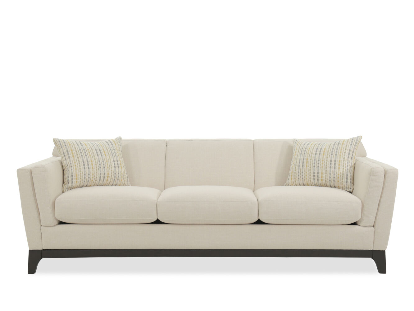 Casual 92 three seater sofa in beige mathis brothers for Casual couch