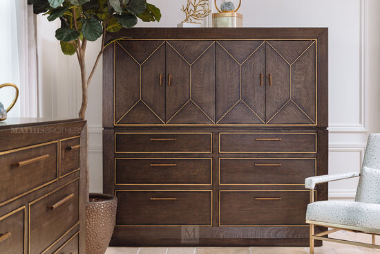 "64"" Four-Door Traditional Master Chest in Brown"