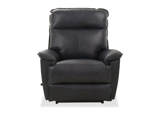 """Leather 39"""" Rocker Recliner in Admiral"""