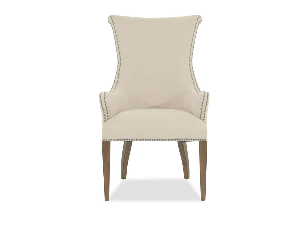 Wingback 42 Host Dining Chair In Cream Mathis Brothers Furniture