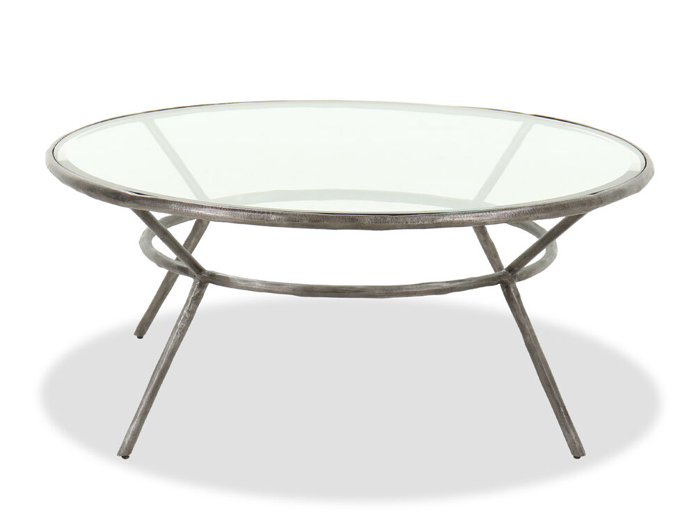 Casual Round Cocktail Table in Antique Iron