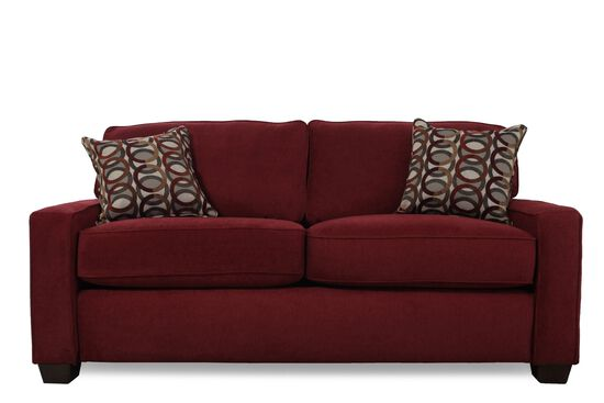 "I-Rest Casual 82"" Sleeper Loveseat in Red"