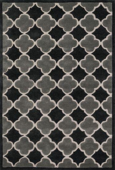 """Contemporary 7'-10""""x11'-0"""" Rug in Black/Grey"""