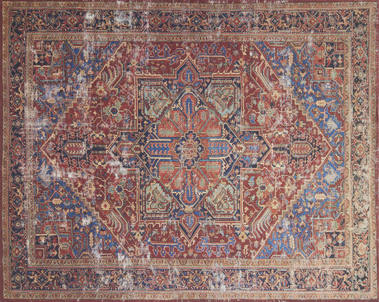 Magnolia Home Power Loomed 5'x7'6'' Rug in Red/Blue