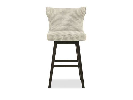 "Wingback 43"" Nailhead Accented Bar Stool in Cream"