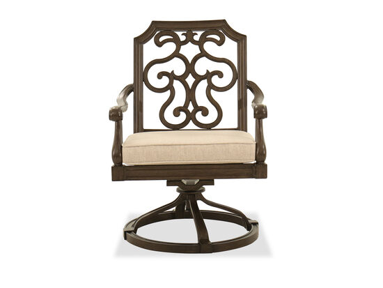 Traditional Swivel Patio Dining Chair in Garden Gate