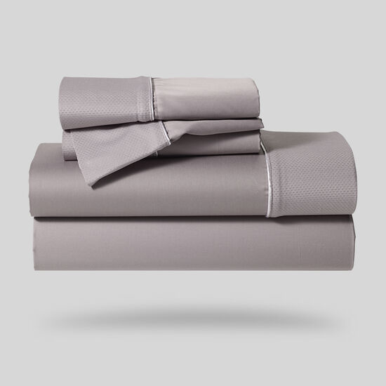 Five-Piece Hyper-Cotton Queen Sheet Set In Gray