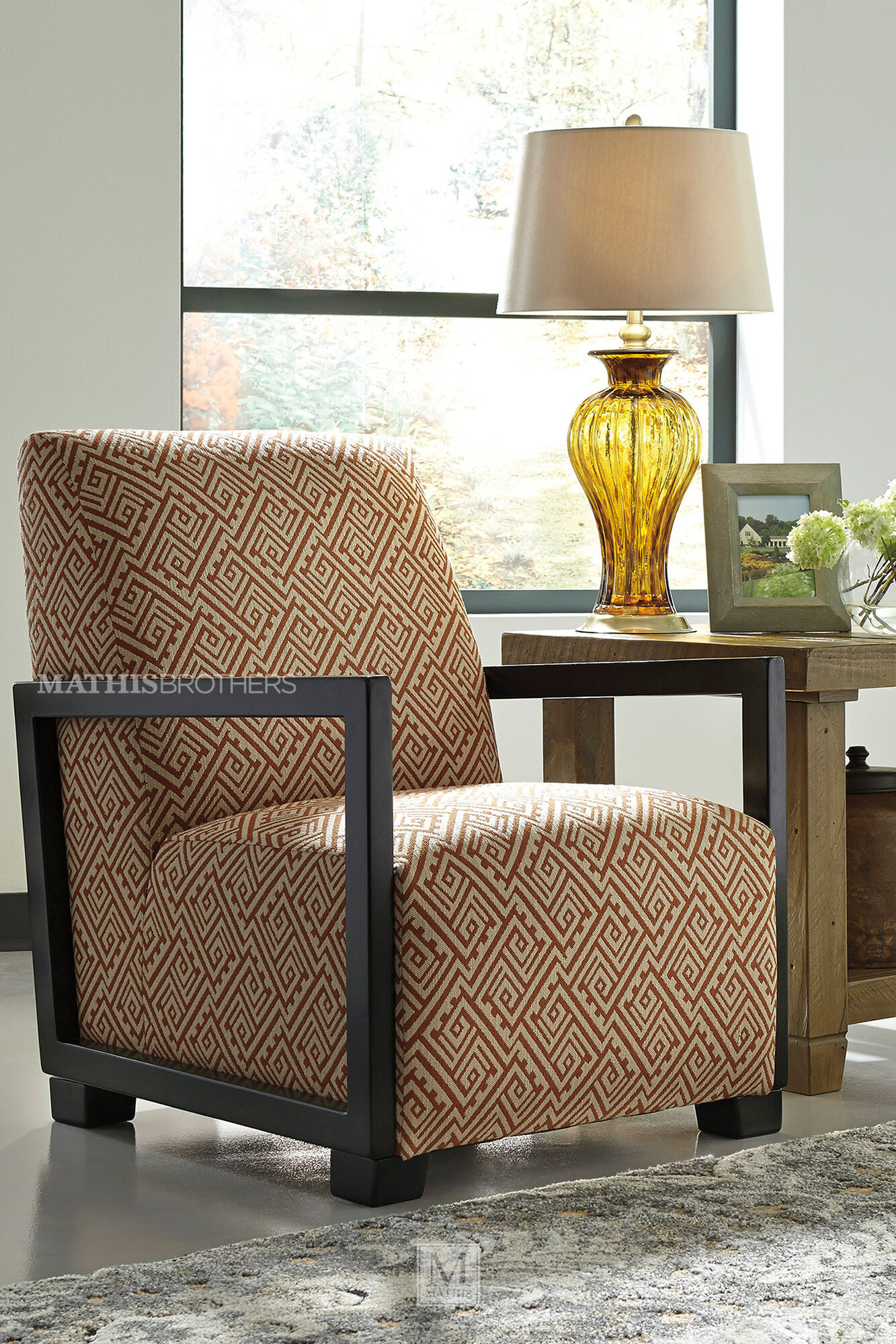 geometric patterned contemporary accent chair mathis. Black Bedroom Furniture Sets. Home Design Ideas