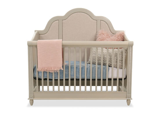 Slatted Traditional Crib in Beige