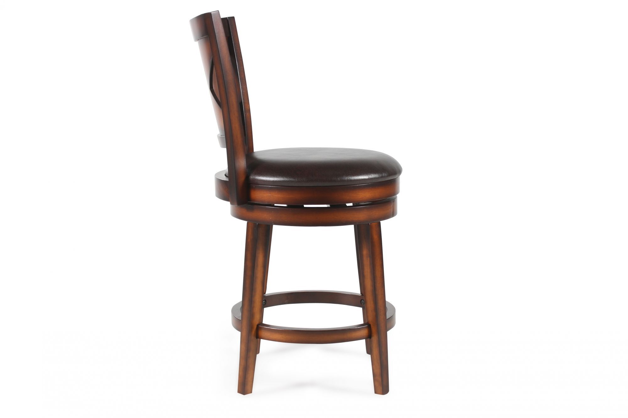X Back Bar Stool In Brown Mathis Brothers Furniture