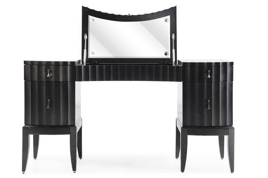 "31"" Contemporary Serpentine Vanity in Black Tie"