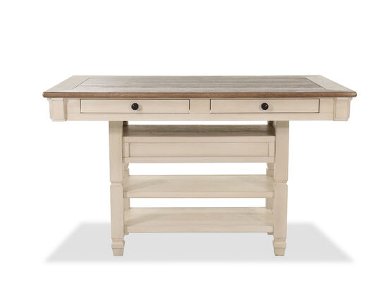 """60"""" Counter Height Dining Table in Antique White"""