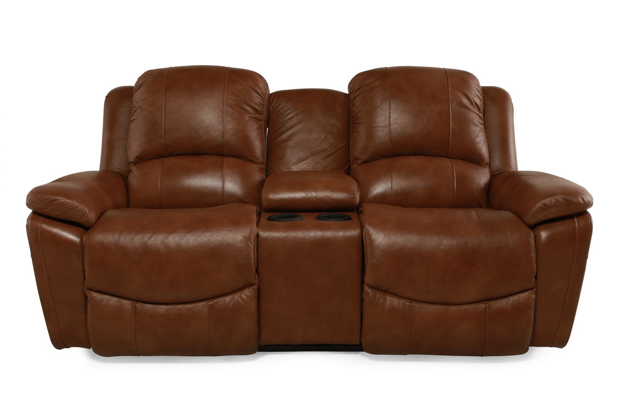La-Z-Boy Owen Wheat Leather Double Reclining with Console  sc 1 st  Mathis Brothers : lazy boy owen recliner - islam-shia.org