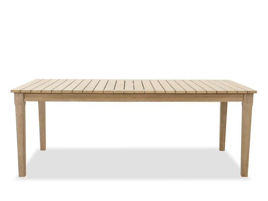 Contemporary Rectangular Patio Dining Table in Beige