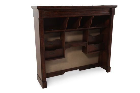 Contemporary Hutch in Medium Brown