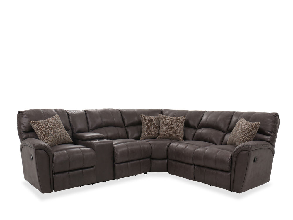 Casual Three-Piece Sectional in Grey   Mathis Brothers Furniture