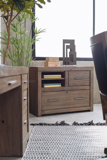 Two-Drawer Contemporary Combo File in Graystone
