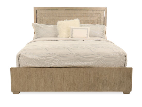 Transitional King Panel Bed in Brown