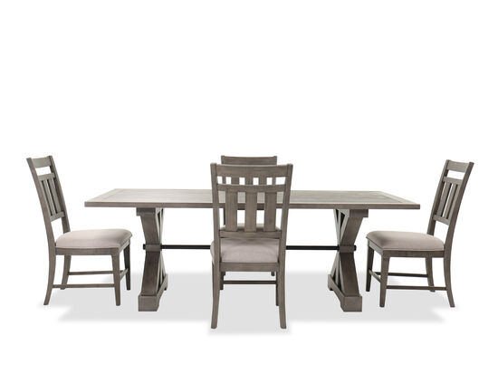 Transitional Five-Piece Dining Set in Gray