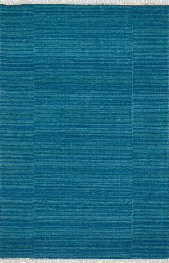 """Transitional 3'-6""""x5'-6"""" Rug in Blue"""