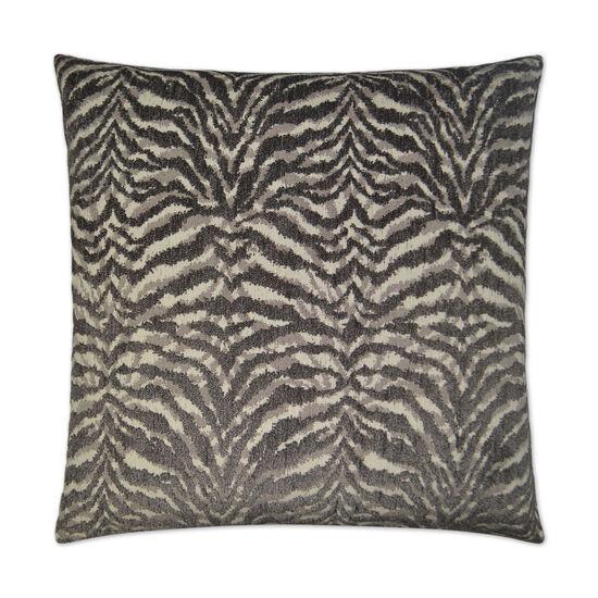 Tigra Pillow in Charcoal Gray