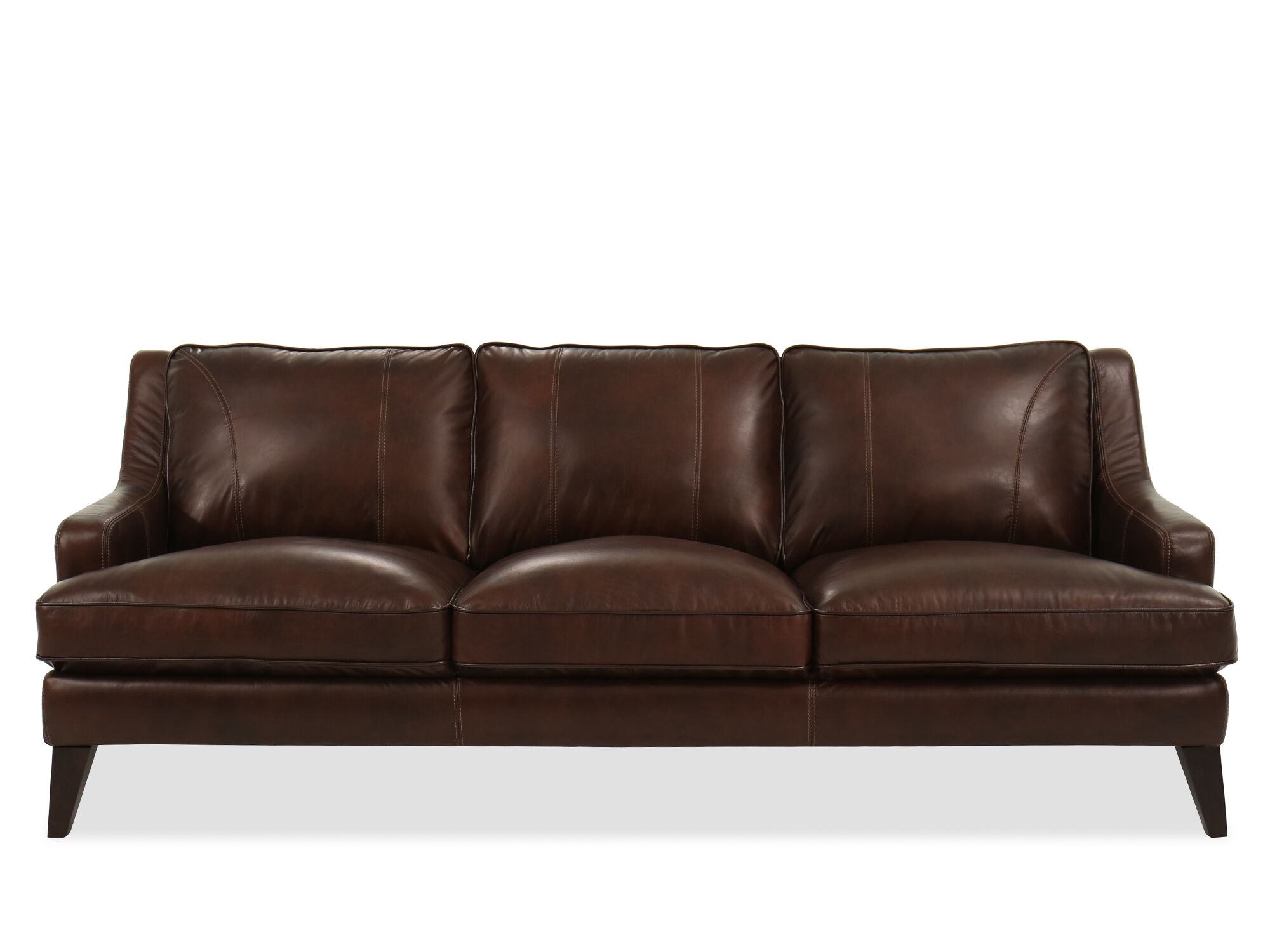 Casual Leather Sofa In Brown ...