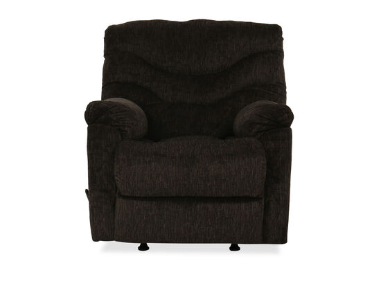 "Casual 37"" Rocker Recliner in Chocolate"