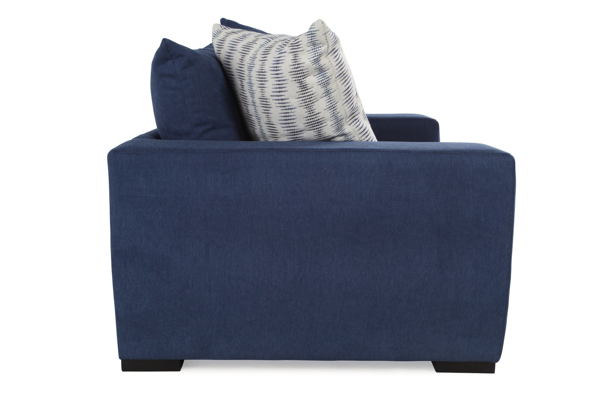 enchanting low seating living room furniture | Low-Profile Casual Arm Chair in Blue | Mathis Brothers ...