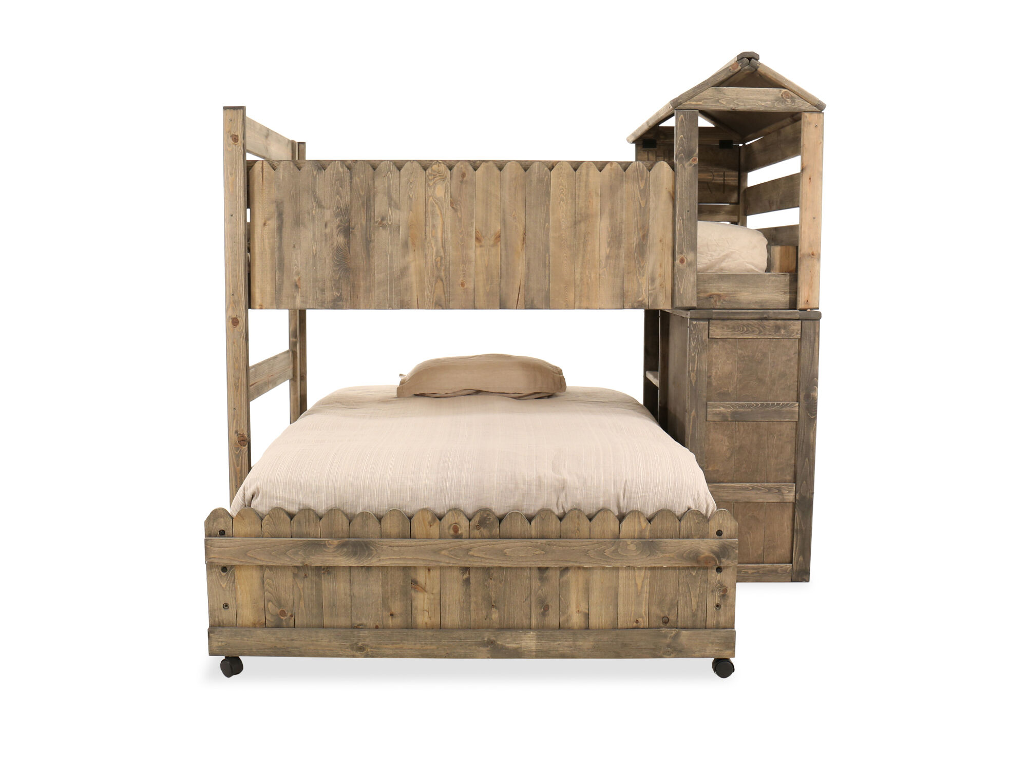 Contemporary Youth Full Fort Bed In Brown Mathis