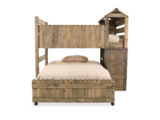 Contemporary Youth Full Fort Bed in Brown
