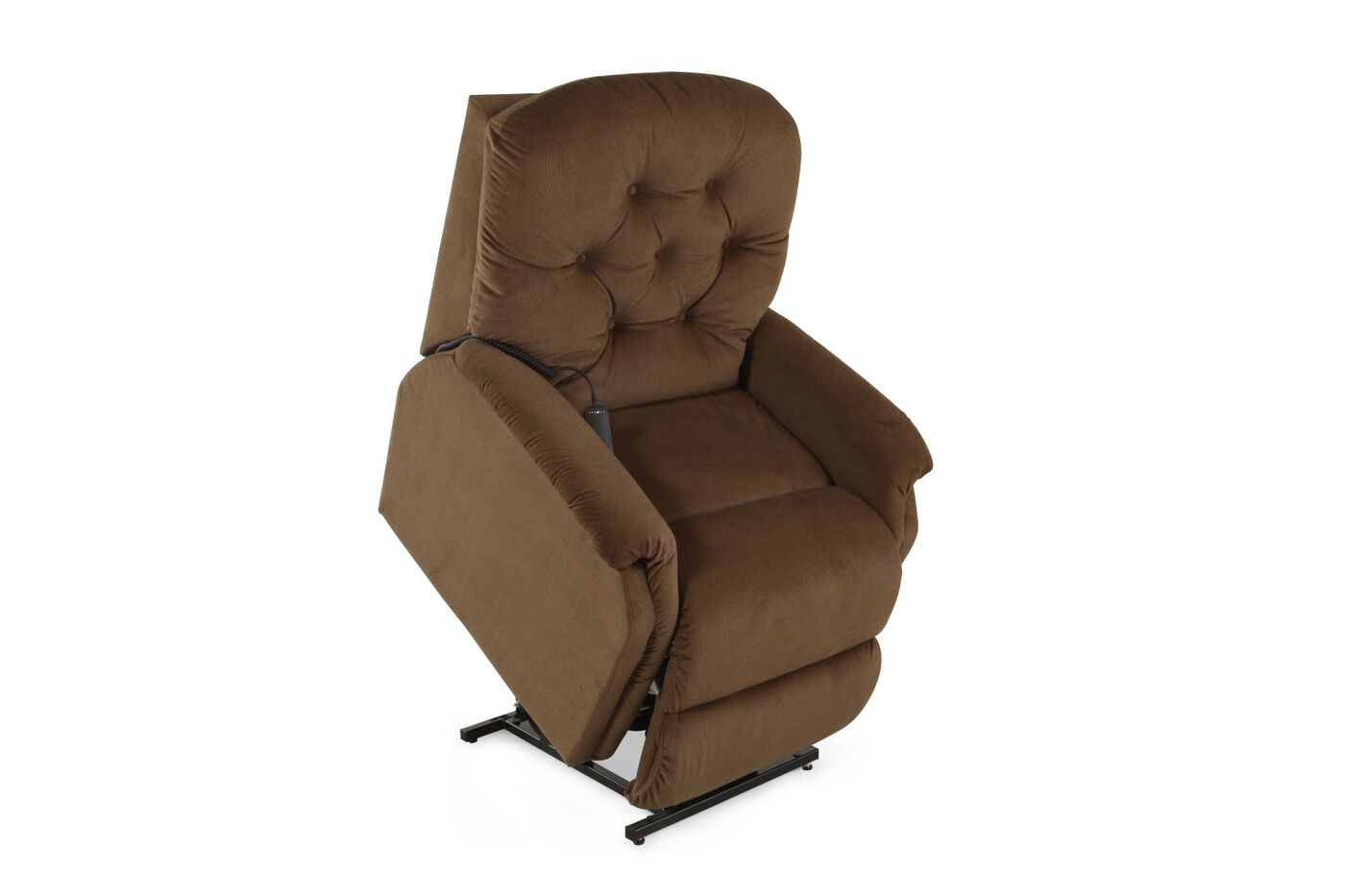 Textured Contemporary 35 Lift Recliner In Camel