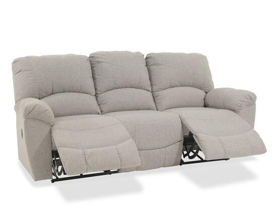 "Casual 87"" Reclining Sofa in Gray"