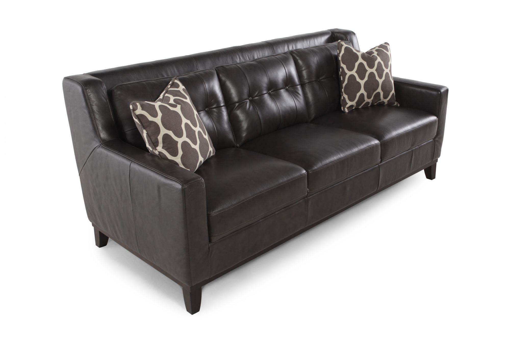 boulevard grey leather sofa