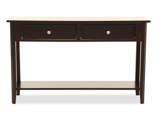 Paneled Front Transitional Sofa Table In Espresso