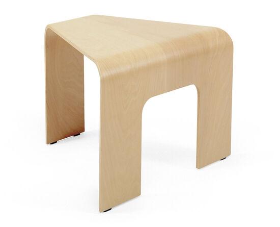 Contemporary Triangular Corner Table in Light Brown