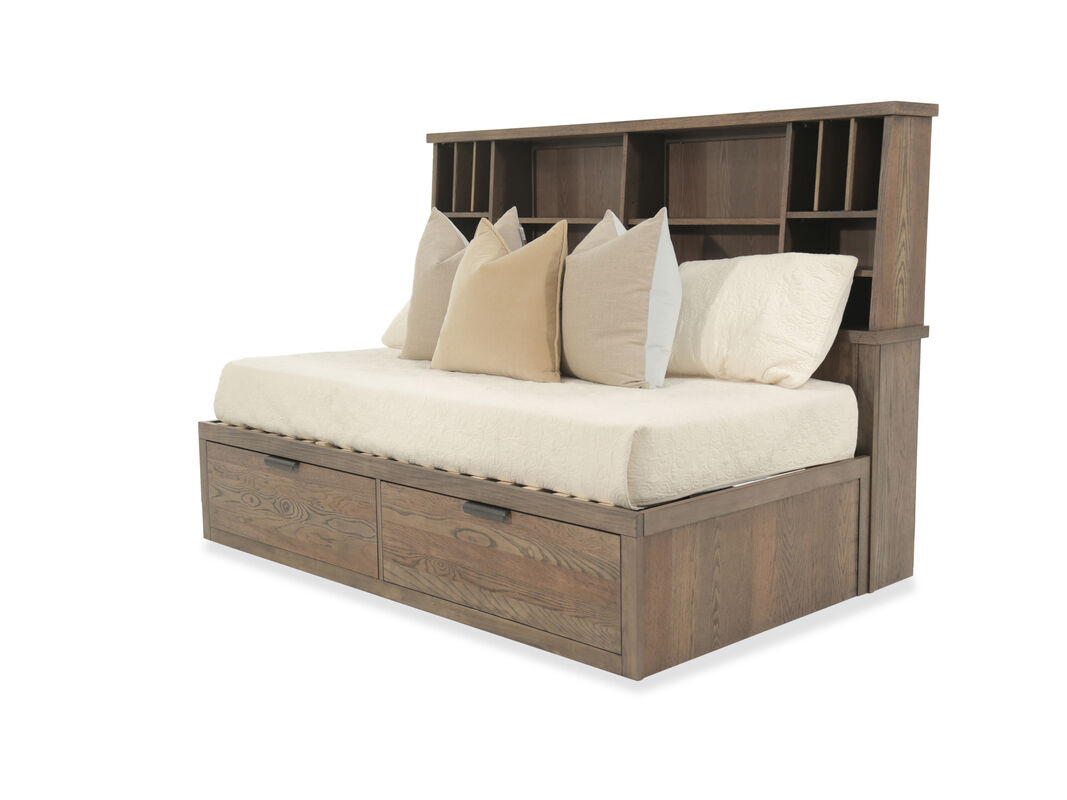 Youth Bookcase Lounge Bed in Brown | Mathis Brothers Furniture