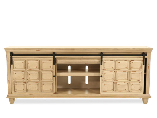 """Two-Shelf Traditional 84"""" Console in Light Brown"""
