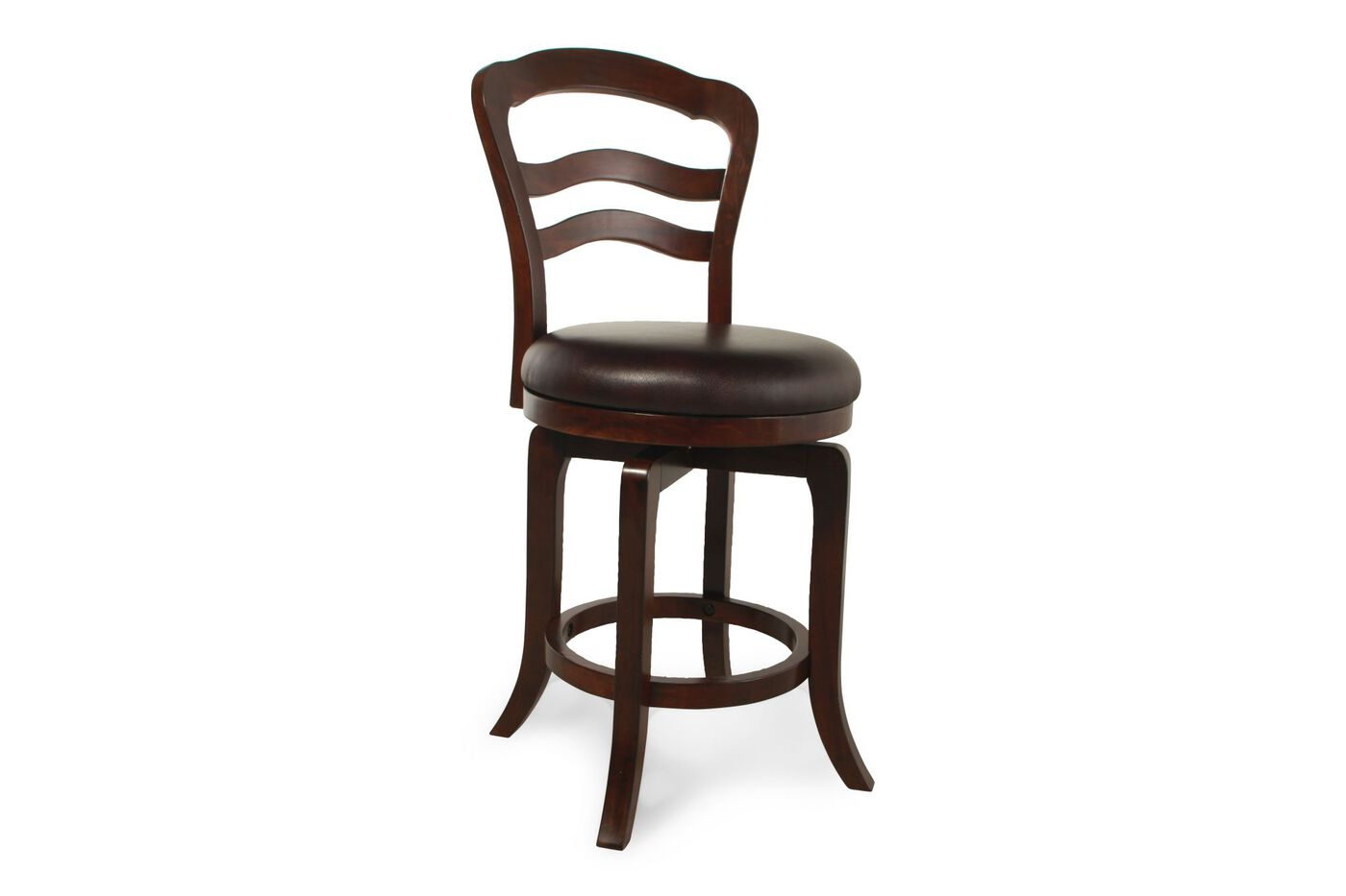 Traditional 42 5 Quot Swivel Bar Stool In Dark Brown Mathis