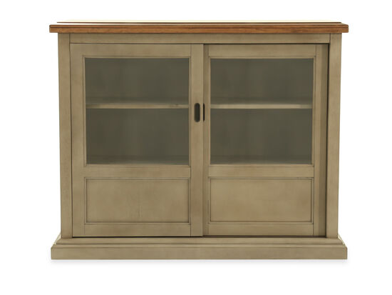 "45"" Solid Rubberwood Sideboard in Gray"