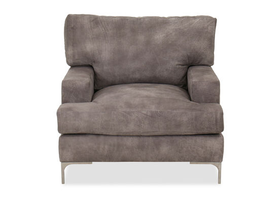Casual Leather Chair in Gray