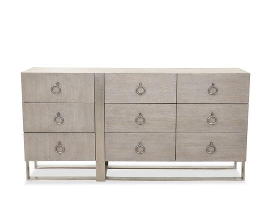 "36"" Casual Nine-Drawer Dresser in Cerused Greige"