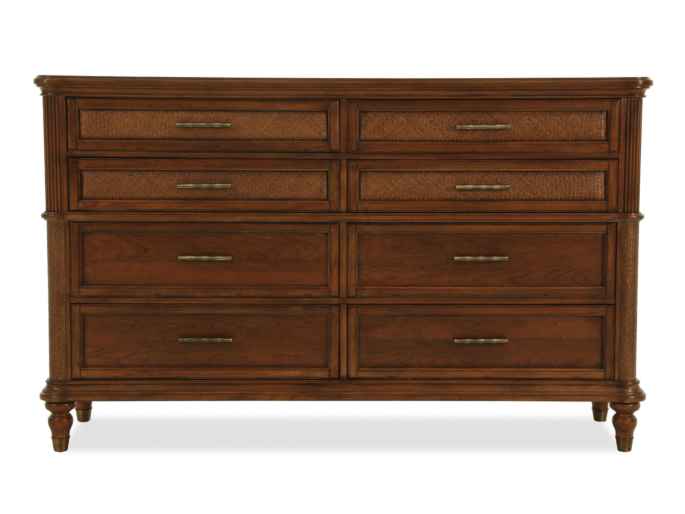42 Casual Basket Weave Textured Dresser In Brown Mathis Brothers Furniture